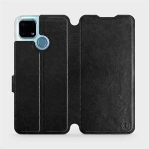 Flip pouzdro Mobiwear na mobil Realme 7i v provedení C_BLS Black&Gray s šedým vnitřkem
