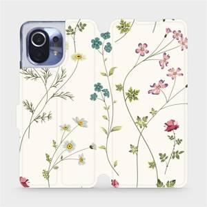 Flipové pouzdro Mobiwear na mobil Xiaomi Mi 11 - MD03S Tenké rostlinky s květy
