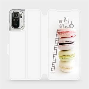 Flipové pouzdro Mobiwear na mobil Xiaomi Redmi Note 10 - M090P Makronky - have a nice day