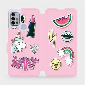 Flipové pouzdro Mobiwear na mobil Motorola Moto G10 - M129S Růžové WHAT