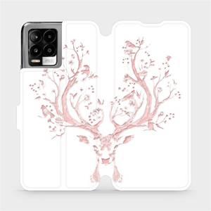 Flip pouzdro Mobiwear na mobil Realme 8 - M007S Růžový jelínek