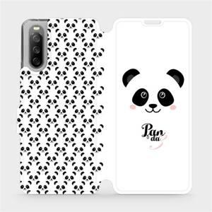 Flip pouzdro Mobiwear na mobil Sony Xperia 10 III - M030P Panda Amálka