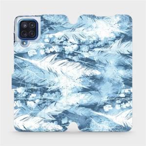 Flipové pouzdro Mobiwear na mobil Samsung Galaxy M12 - M058S Světle modrá horizontální pírka