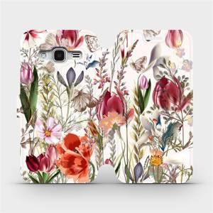 Flip pouzdro Mobiwear na mobil Samsung Galaxy J3 2016 - MP01S Rozkvetlá louka
