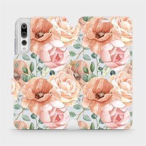 Flip pouzdro Mobiwear na mobil Huawei P20 Pro - MP02S Pastelové květy