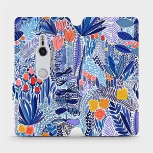 Flip pouzdro Mobiwear na mobil Sony Xperia XZ3 - MP03P Modrá květena