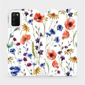 Flip pouzdro Mobiwear na mobil Samsung Galaxy A02S - MP04S Luční kvítí