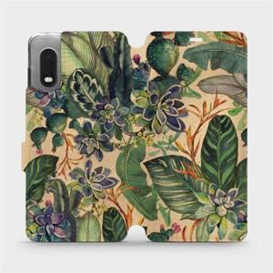 Flip pouzdro Mobiwear na mobil Samsung Galaxy Xcover Pro - VP05S Sukulenty