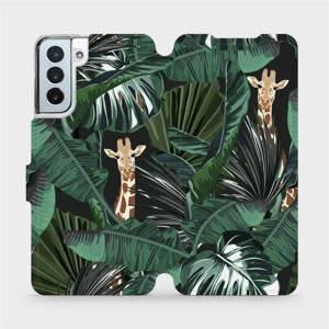 Flip pouzdro Mobiwear na mobil Samsung Galaxy S21 Plus - VP06P Žirafky