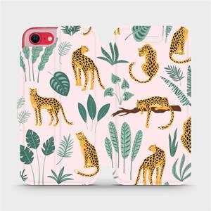 Flip pouzdro Mobiwear na mobil Apple iPhone SE 2020 - MP07S Leopardi