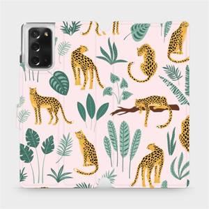 Flip pouzdro Mobiwear na mobil Samsung Galaxy Note 20 - MP07S Leopardi