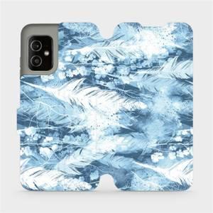 Flip pouzdro Mobiwear na mobil Asus Zenfone 8 - M058S Světle modrá horizontální pírka