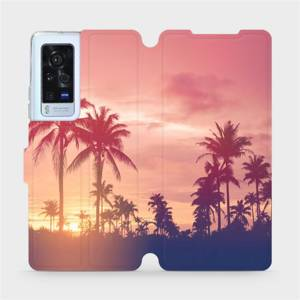 Flip pouzdro Mobiwear na mobil Vivo X60 Pro 5G - M134P Palmy a růžová obloha