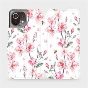 Flip pouzdro Mobiwear na mobil Xiaomi 11 Lite 5G NE - M124S Růžové květy