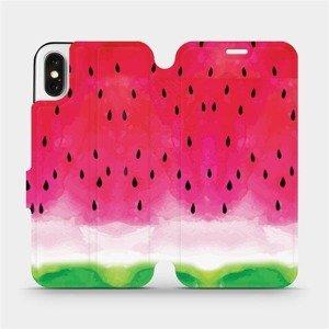Flipové pouzdro Mobiwear na mobil Apple iPhone X - V086S Melounek