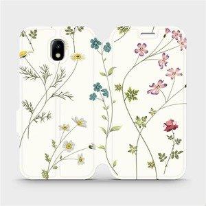 Flipové pouzdro Mobiwear na mobil Samsung Galaxy J5 2017 - MD03S Tenké rostlinky s květy