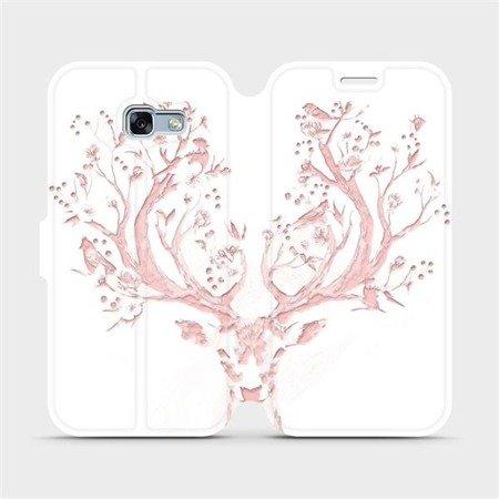 Flipové pouzdro Mobiwear na mobil Samsung Galaxy A3 2017 - M007S Růžový jelínek