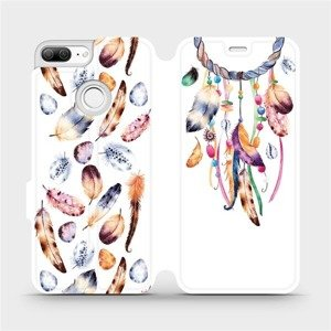 Flipové pouzdro Mobiwear na mobil Honor 9 Lite - M003S Lapač a barevná pírka