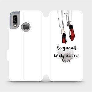 Flipové pouzdro Mobiwear na mobil Huawei P20 Lite - M046P Be yourself