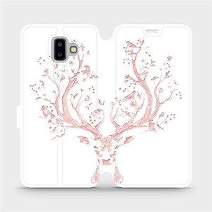 Flipové pouzdro Mobiwear na mobil Samsung Galaxy J6 Plus 2018 - M007S Růžový jelínek