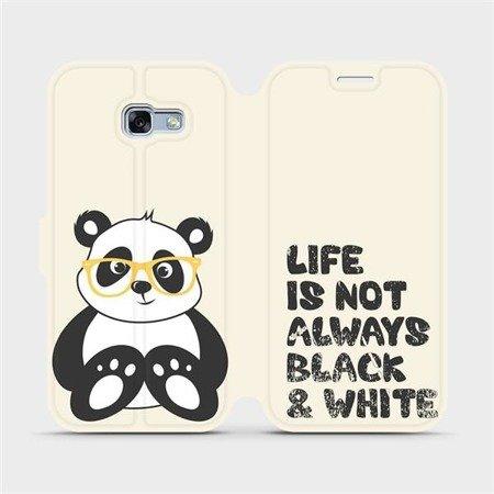 Flipové pouzdro Mobiwear na mobil Samsung Galaxy A5 2017 - M041S Panda - life is not always black and white