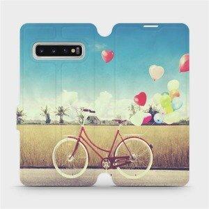 Flipové pouzdro Mobiwear na mobil Samsung Galaxy S10 - M133P Kolo a balónky