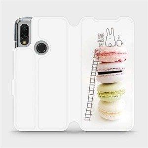 Flipové pouzdro Mobiwear na mobil Xiaomi Redmi 7 - M090P Makronky - have a nice day