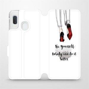Flipové pouzdro Mobiwear na mobil Samsung Galaxy A20e - M046P Be yourself