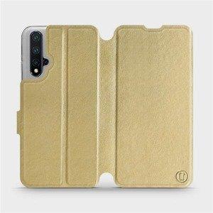 Flipové pouzdro Mobiwear na mobil Honor 20 v provedení C_GOP Gold&Orange s oranžovým vnitřkem