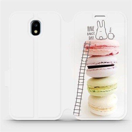 Flipové pouzdro Mobiwear na mobil Samsung Galaxy J5 2017 - M090P Makronky - have a nice day