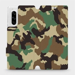 Flipové pouzdro Mobiwear na mobil Sony Xperia 5 - V111P Maskáče