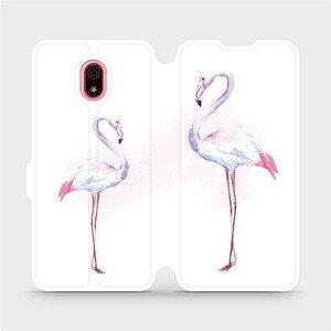 Flipové pouzdro Mobiwear na mobil Xiaomi Redmi 8a - M005S Plameňáci