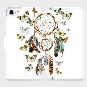 Flipové pouzdro Mobiwear na mobil Apple iPhone SE 2020 - M001P Lapač a motýlci