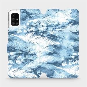Flipové pouzdro Mobiwear na mobil Samsung Galaxy M51 - M058S Světle modrá horizontální pírka