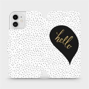 Flipové pouzdro Mobiwear na mobil Apple iPhone 12 - M013P Golden hello