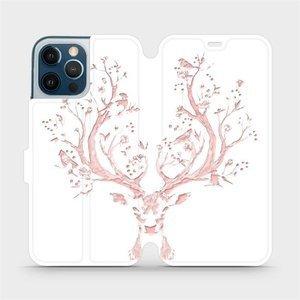 Flipové pouzdro Mobiwear na mobil Apple iPhone 12 Pro Max - M007S Růžový jelínek
