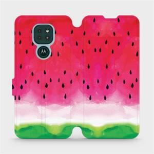 Flipové pouzdro Mobiwear na mobil Motorola Moto G9 Play - V086S Melounek