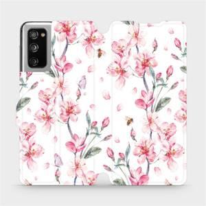Flipové pouzdro Mobiwear na mobil Samsung Galaxy S20 FE - M124S Růžové květy