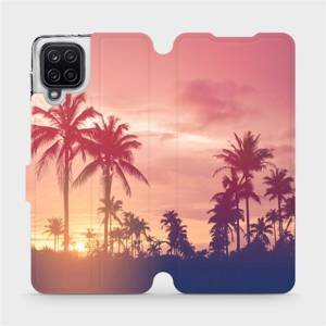 Flipové pouzdro Mobiwear na mobil Samsung Galaxy A12 - M134P Palmy a růžová obloha