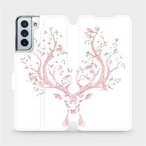 Flipové pouzdro Mobiwear na mobil Samsung Galaxy S21 Plus 5G - M007S Růžový jelínek