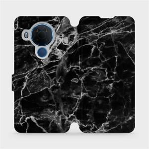 Flipové pouzdro Mobiwear na mobil Nokia 5.4 - V056P Černý mramor