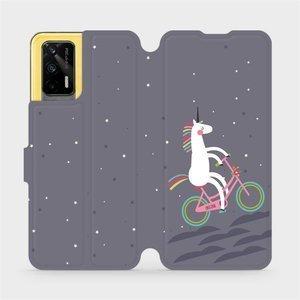 Flipové pouzdro Mobiwear na mobil Realme GT 5G - V024P Jednorožec na kole