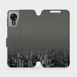 Flipové pouzdro Mobiwear na mobil Samsung Galaxy Xcover 5 - V063P Město v šedém hávu