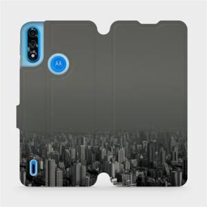 Flipové pouzdro Mobiwear na mobil Motorola Moto E7 Power - V063P Město v šedém hávu