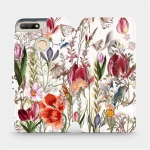 Flip pouzdro Mobiwear na mobil Huawei Y6 Prime 2018 - MP01S Rozkvetlá louka
