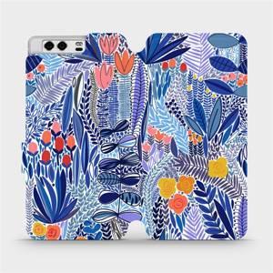 Flip pouzdro Mobiwear na mobil Huawei P10 - MP03P Modrá květena