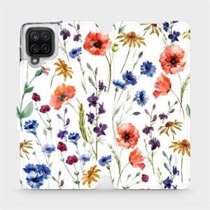 Flip pouzdro Mobiwear na mobil Samsung Galaxy A12 - MP04S Luční kvítí