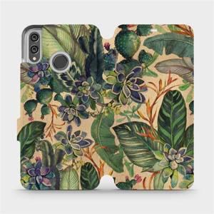 Flip pouzdro Mobiwear na mobil Honor 8X - VP05S Sukulenty