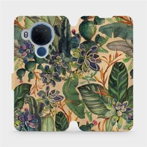Flip pouzdro Mobiwear na mobil Nokia 5.4 - VP05S Sukulenty - výprodej