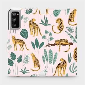 Flip pouzdro Mobiwear na mobil Samsung Galaxy S20 FE - MP07S Leopardi